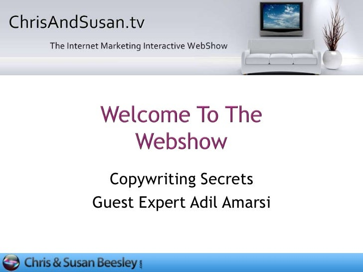 Copywriting SecretsGuest Expert Adil Amarsi