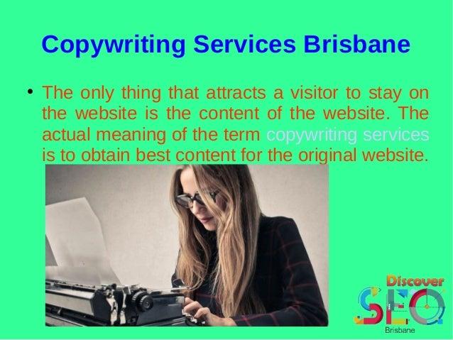Copywriting services brisbane