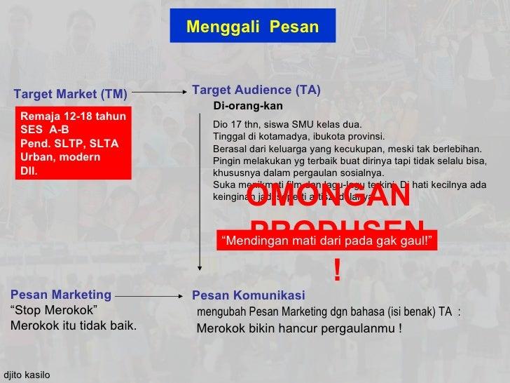 Menggali Pesan  Target Market (TM)       Target Audience (TA)                               Di-orang-kan    Remaja 12-18 t...
