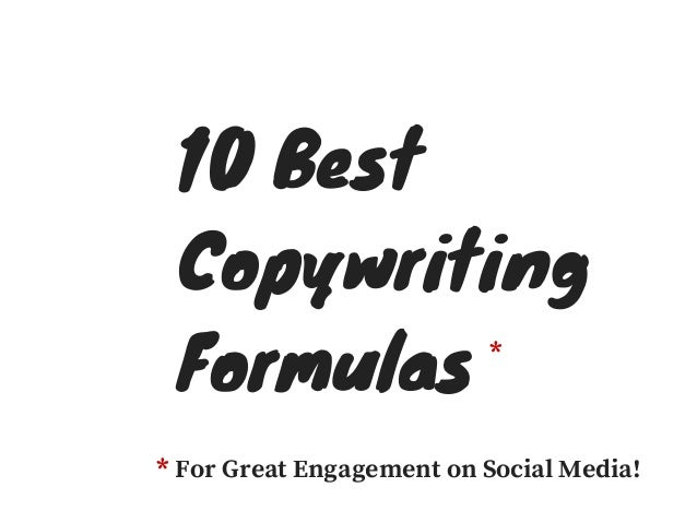 10 Best Copywriting Formulas For Great Engagement on Social Media!* *