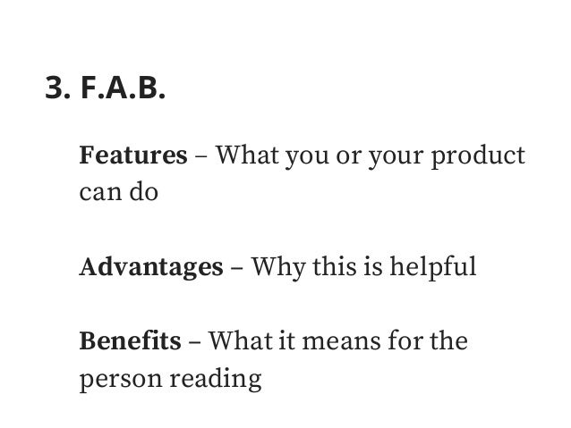 5. The 4 U's Useful – Be useful to the reader Urgent – Provide a sense of urgency Unique – Convey the idea that the main b...