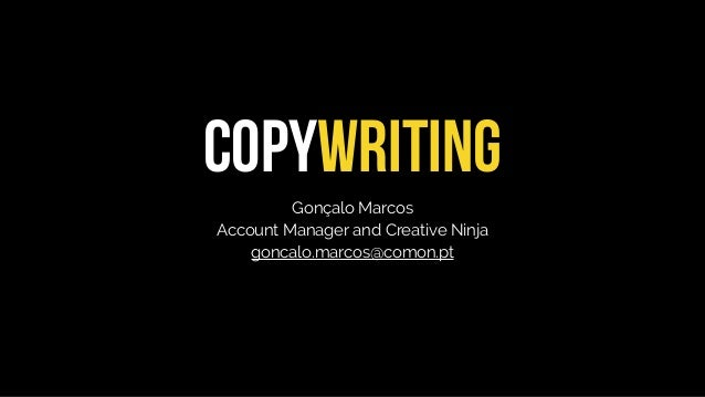 COPYWRITING Gonçalo Marcos