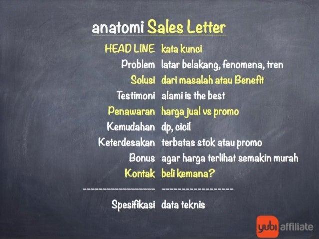 Anatomi Sales Letter Yang Menjual Slide 2