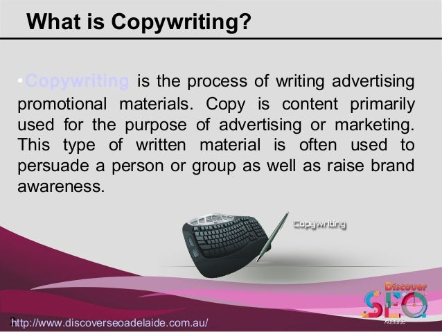 Copywriting Services offer by Discover SEO Adelaide Slide 2