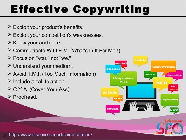 Copywriting Services offer by Discover SEO Adelaide Slide 3