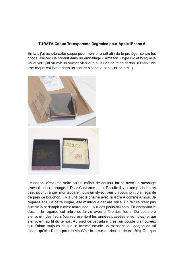 TURATA Coque Transparente Dégradée pour Apple iPhone 6 En fait, j'ai acheté cette coque pour mon iphone6 afin de le protég...