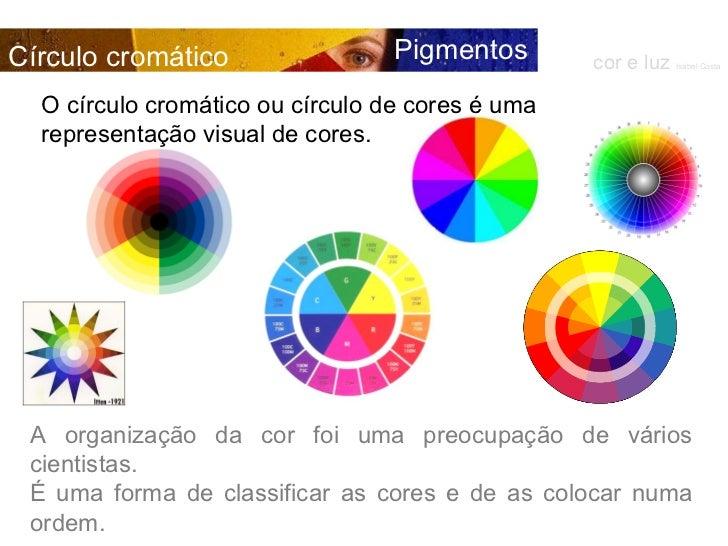 A organização da cor foi uma preocupação de vários cientistas.  É uma forma de classificar as cores e de as colocar numa o...