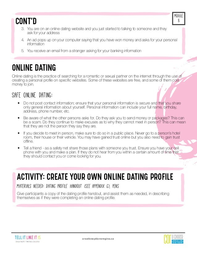Dating min datter sjekkliste