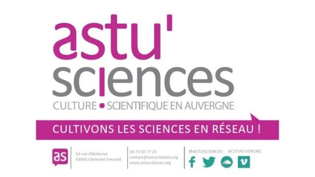 Je veux comprendre le monde La culture scientifique contribue à faire de chacun un citoyen curieux, éclairé et engagé dans...