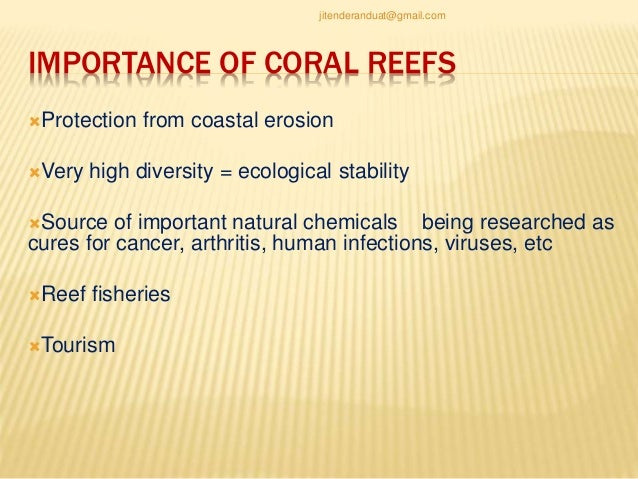 An analysis of the development and importance of coral reefs in the oceans