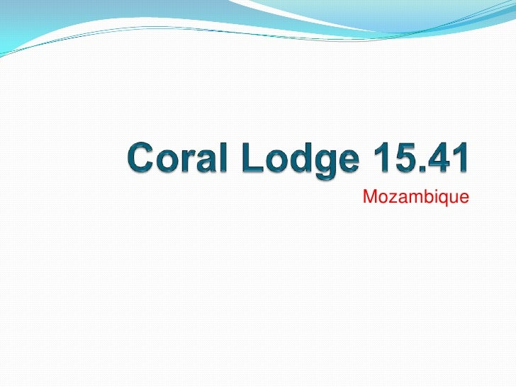 Coral Lodge 15.41<br />Mozambique <br />