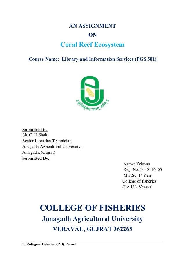 Coral Reef Ecosystem Krishna