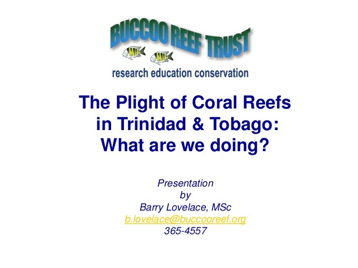 The Plight of Coral Reefs<br /> in Trinidad & Tobago:<br />What are we doing?<br />Presentation<br />by<br />Barry Lovelac...