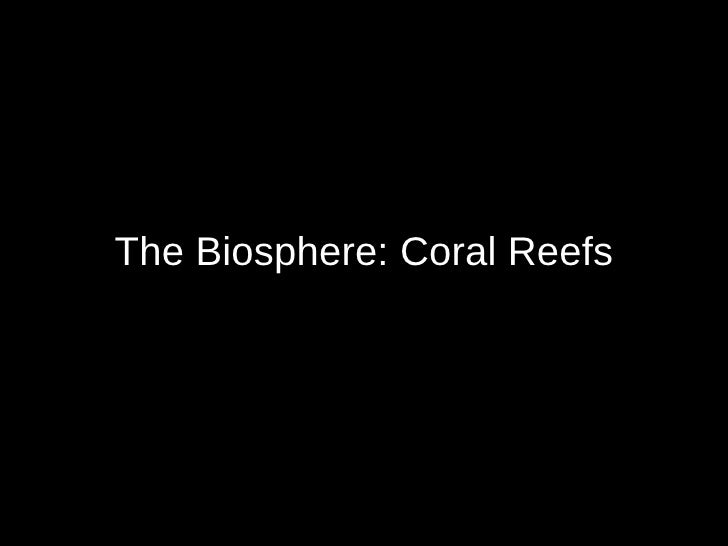 The Biosphere: Coral Reefs