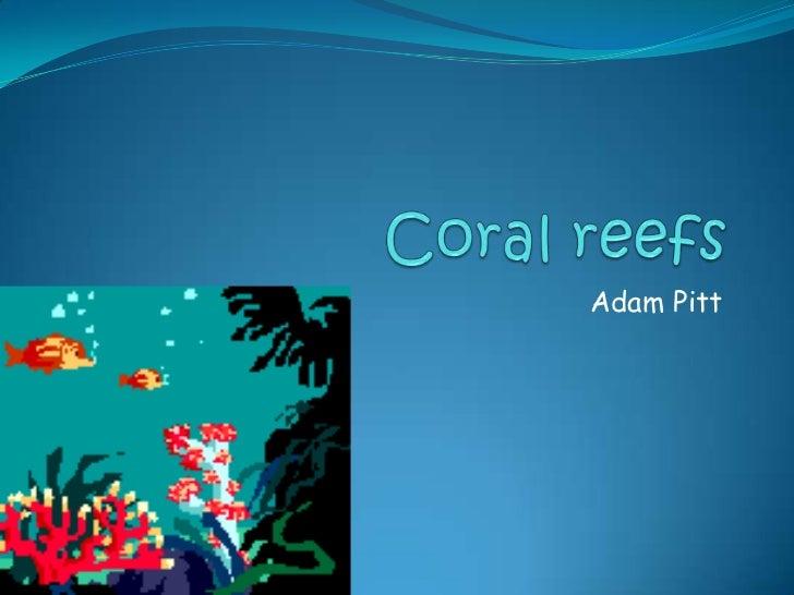 Coral reefs<br />Adam Pitt<br />