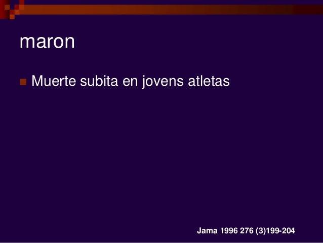 maron  Muerte subita en jovens atletas Jama 1996 276 (3)199-204