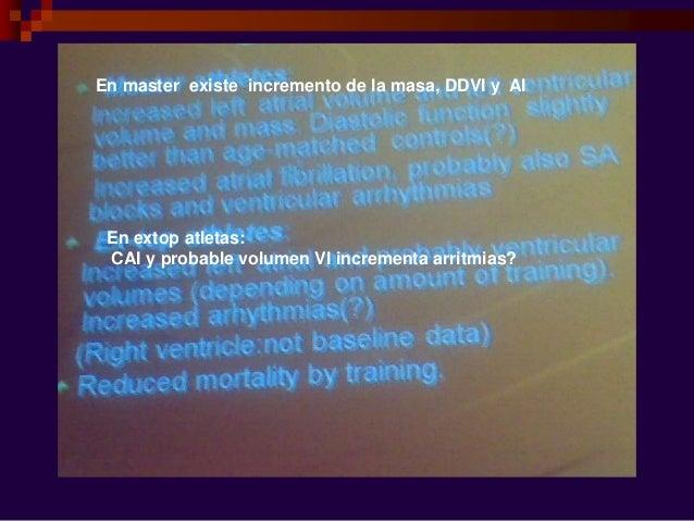 Cambio ecocardiografico x Desacondicionamiento físico  Es la regresión de la HVI al suspender ejercicio físico al menos 3...