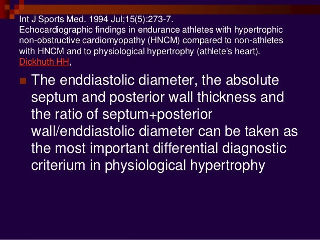 J Am Coll Cardiol. 2002 Oct 16;40(8):1431-6. Physiologic limits of left ventricular hypertrophy in elite junior athletes: ...