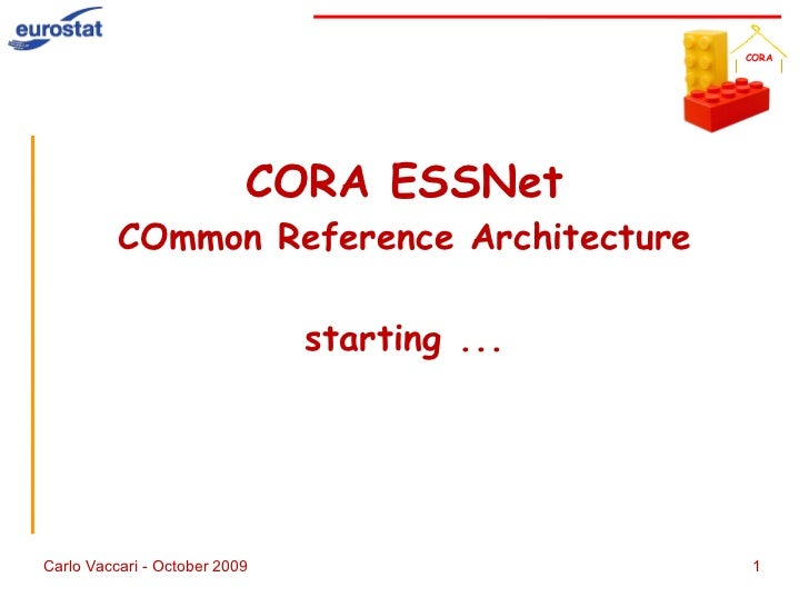 CORA ESSNet COmmon Reference Architecture starting ...