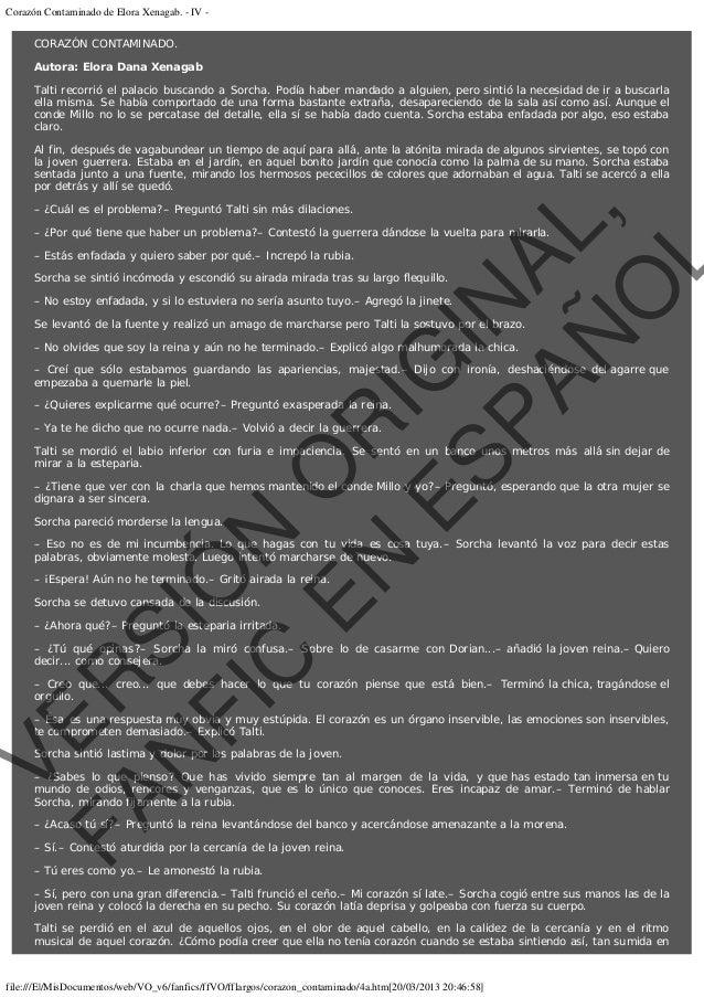 Corazon contaminado de Elora Dana Xenagab