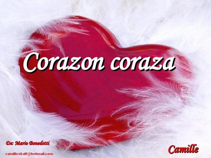 Corazon coraza Camille De: Mario Benedetti Camille
