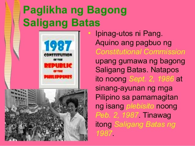 Mga Programa Ni Dating Pangulong Corazon Aquino