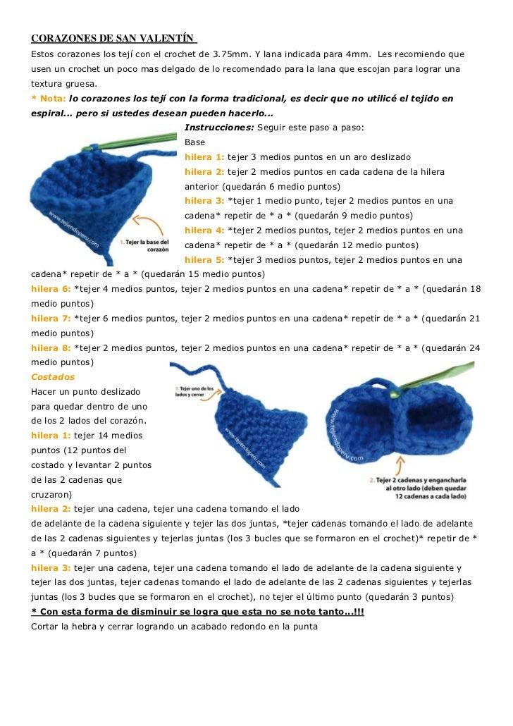 CORAZONES DE SAN VALENTÍNEstos corazones los tejí con el crochet de 3.75mm. Y lana indicada para 4mm. Les recomiendo queus...