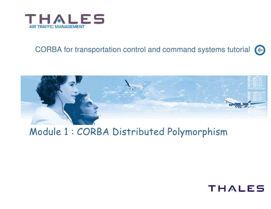 CORBA for transportation control and command systems tutorial