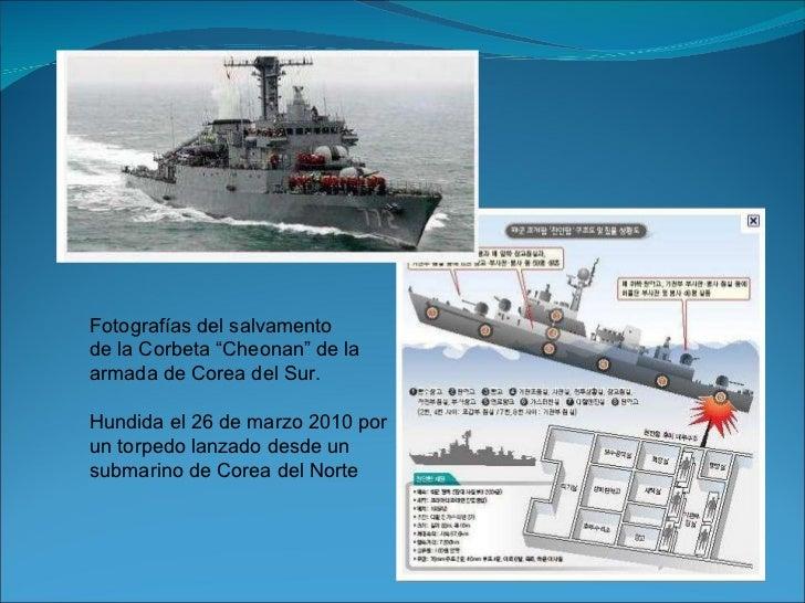 """Fotografías del salvamento de la Corbeta """"Cheonan"""" de la armada de Corea del Sur. Hundida el 26 de marzo 2010 por  un torp..."""