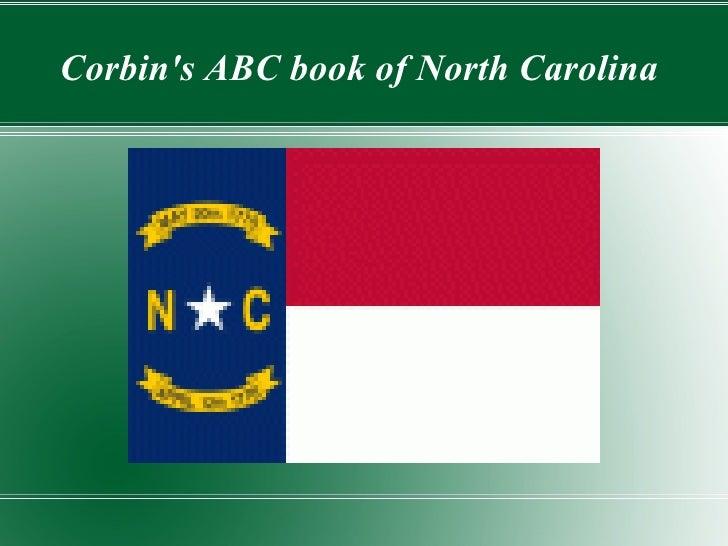 Corbins ABC book of North Carolina