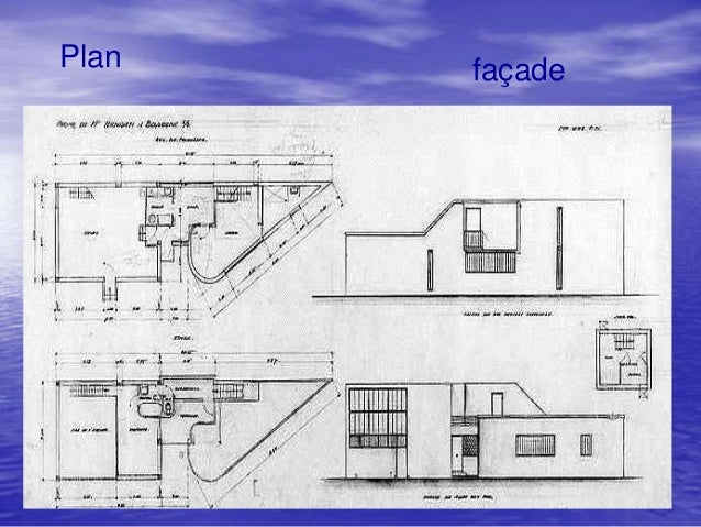 Corbusier et ces principe - Plan coupe facade maison ...