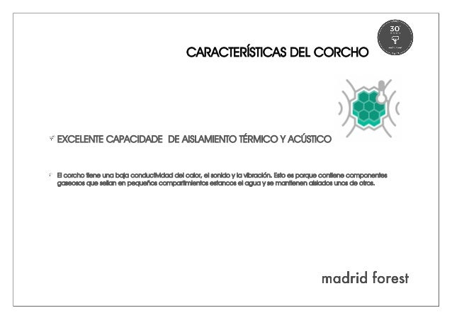Corcho caracter sticas madridforest - Madrid forest ...