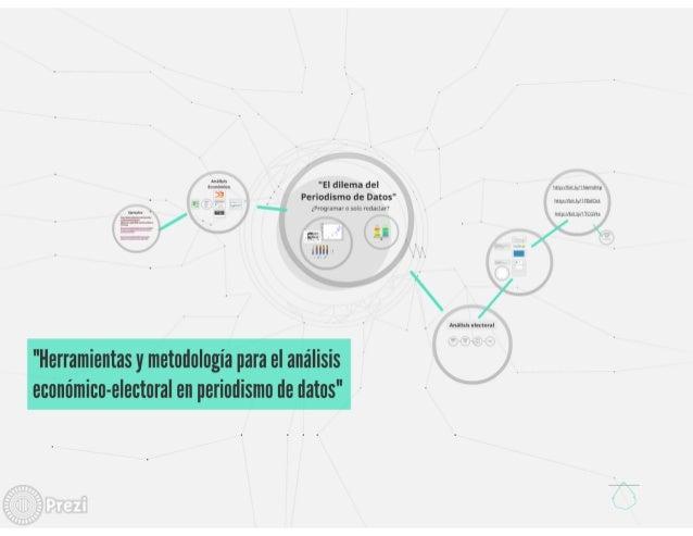 Herramientas y metodología para el análisis económico-electoral en periodismo de datos