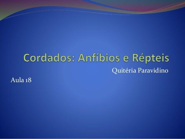 Quitéria Paravidino Aula 18