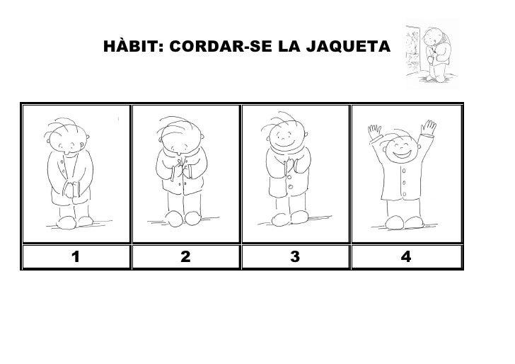 HÀBIT: CORDAR-SE LA JAQUETA1          2         3            4