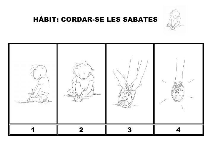 HÀBIT: CORDAR-SE LES SABATES1         2          3         4