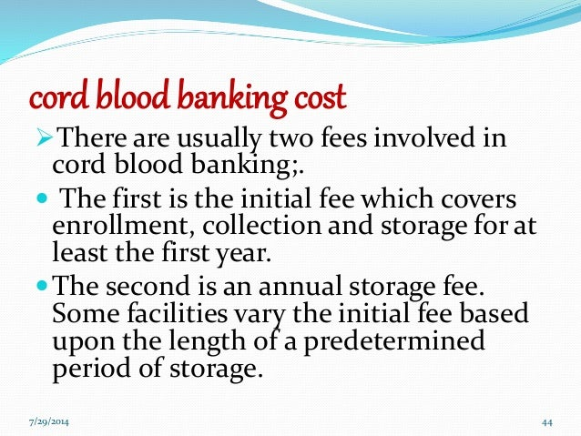 Cord Blood Banking Cost >> Cord Blood Banking