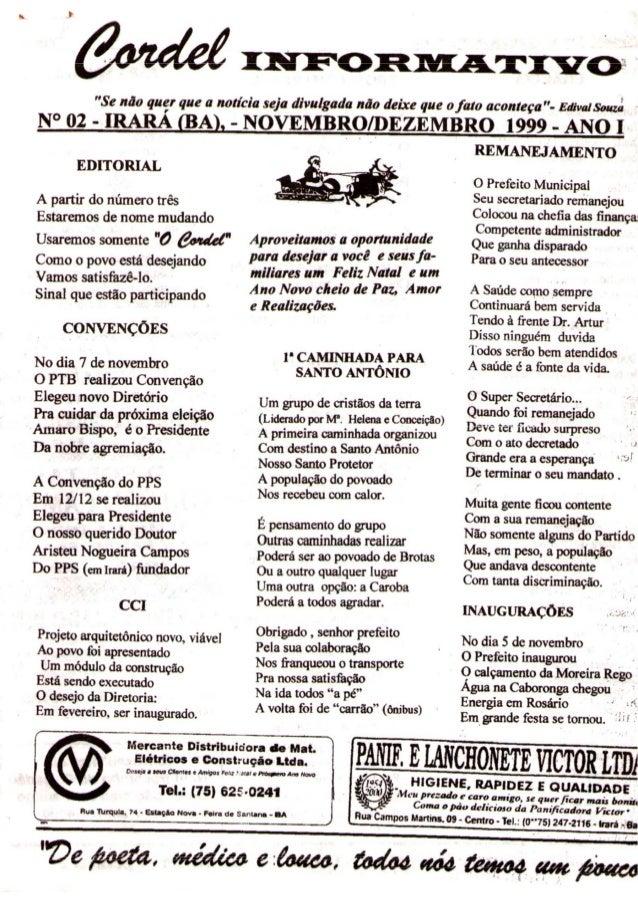 Cordel Informativo - 02