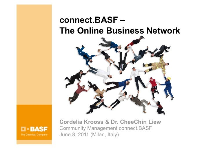connect.BASF –The Online Business NetworkCordelia Krooss & Dr. CheeChin LiewCommunity Management connect.BASFJune 8, 2011 ...