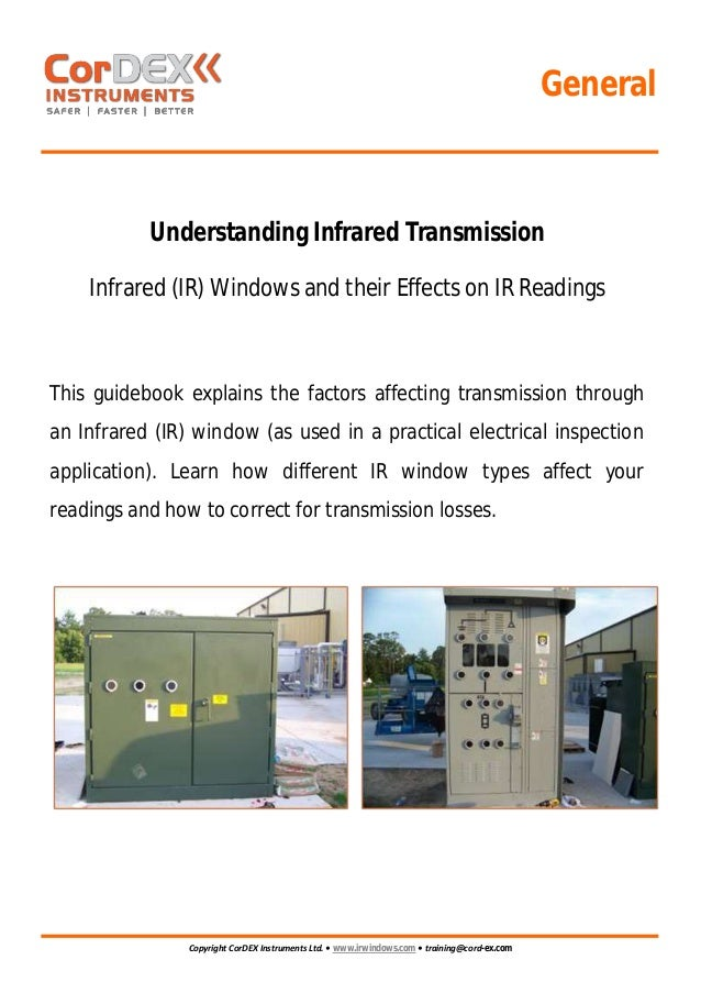 Cordex Instruments - IR Window Transmission Guidebook