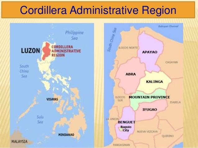cordillera administrative region and mountain province (car-cordillera administrative region) philippines of the old mountain province the region's land in_region_xiv(car-cordillera_administrative.