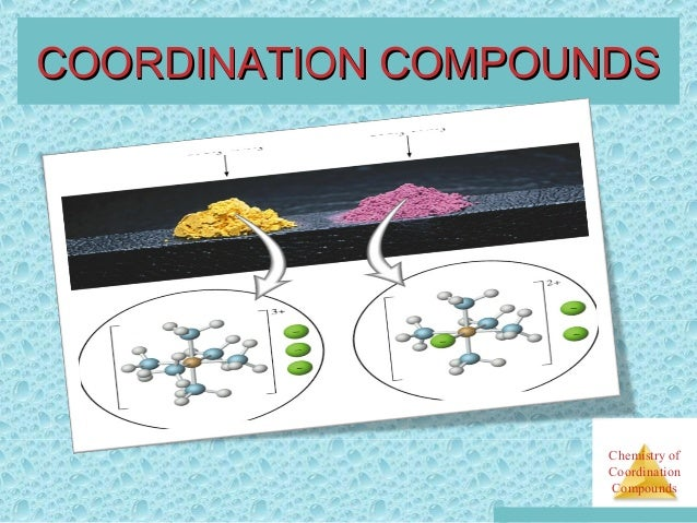 uses of coordination compounds
