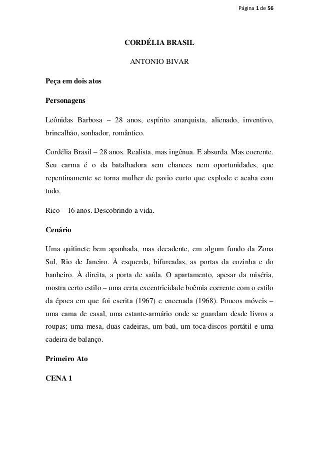 Página 1 de 56                         CORDÉLIA BRASIL                           ANTONIO BIVARPeça em dois atosPersonagens...