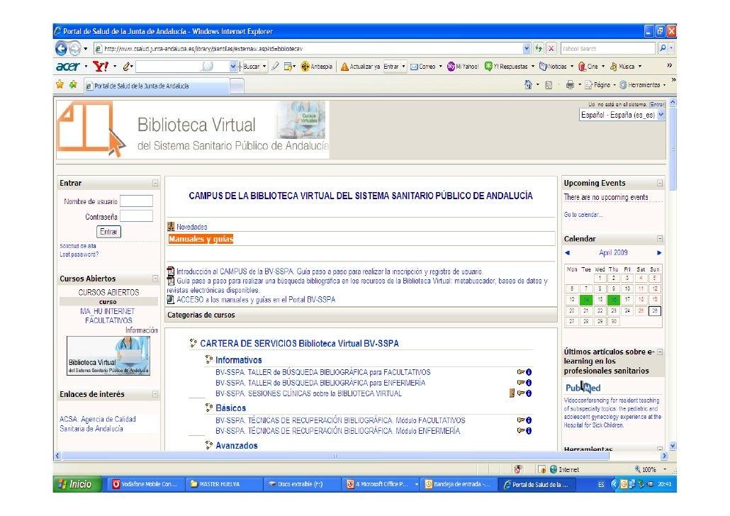 La biblioteca virtual del sistema sanitario publico de for Juntadeandalucia oficina virtual