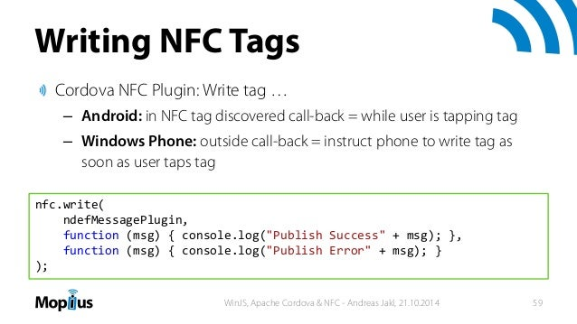 WinJS, Apache Cordova & NFC - HTML5 apps for Android and