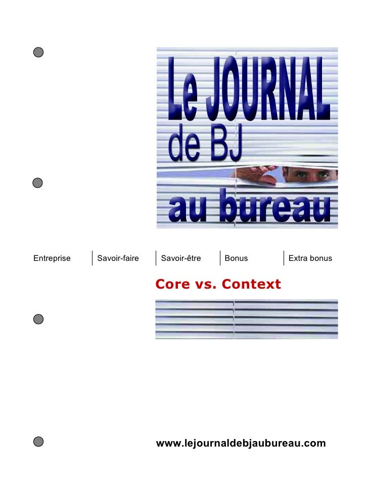 Entreprise   Savoir-faire   Savoir-être   Bonus   Extra bonus                            Core vs. Context                 ...