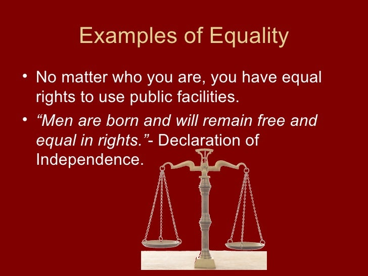 economic equal rights examples