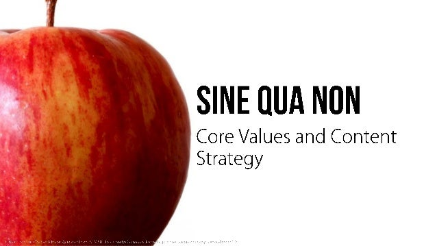 SINE IIUA NON  Core Values and Content Strategy
