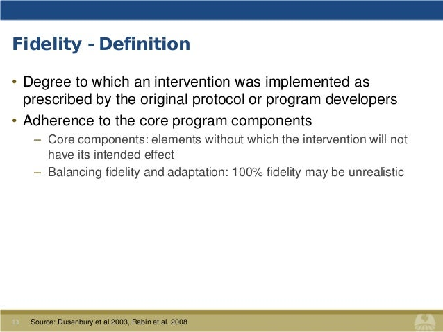 Fidelity   Definition ...