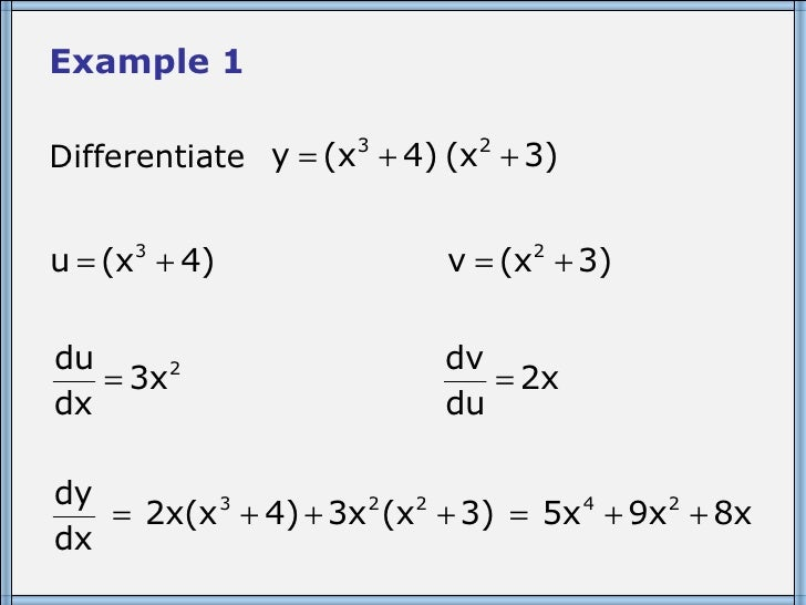 Core 3 The Product Rule